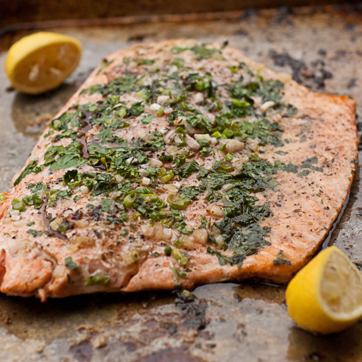 salmon with cilantro butter recipe yummly baked salmon with lemon ...