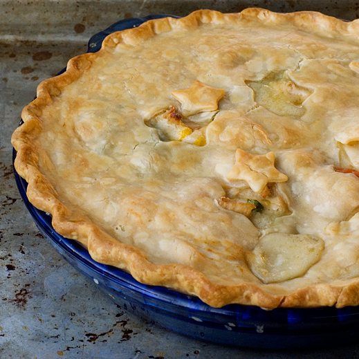recently updated my chicken pot pie recipe. Go check it out .