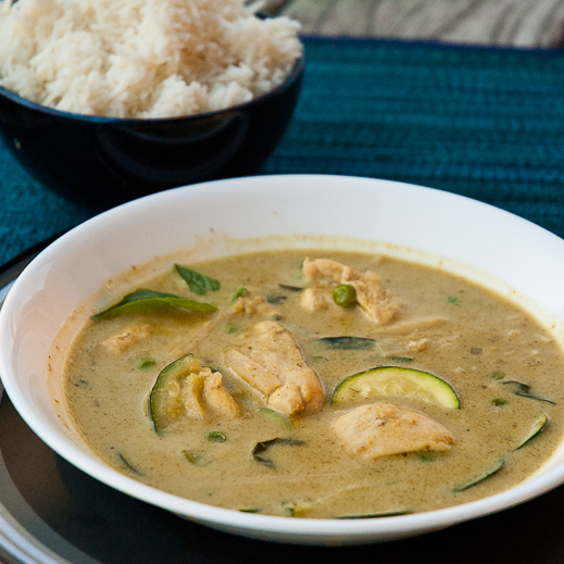 Thai Green Curry in a Hurry | chaos in the kitchen