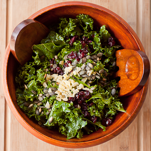 Kale Salad with Cranberries, Pepitas, and Crystallized Ginger | chaos ...