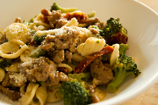 Orecchiette with Caramelized Garlic, Sausage and Broccoli | chaos in ...