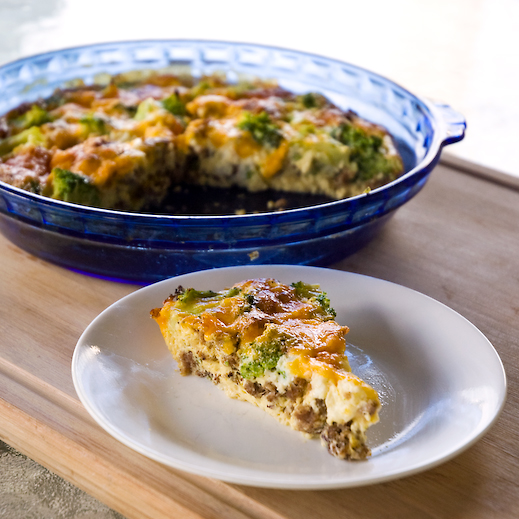 Brunch Ideas At Work: Sausage And Broccoli Breakfast Frittata (Crustless Quiche