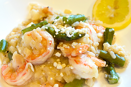 Shrimp and Asparagus Risotto with Lemon | chaos in the kitchen
